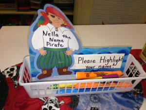Hate when students forget to write their name? Nelly the Name Pirate can help!