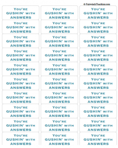 Gushin with Answers