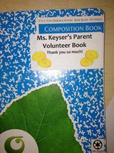"Parent Volunteer ""To Do"" Basket"