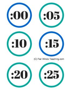 Clock Numbers! *Freebie Friday*