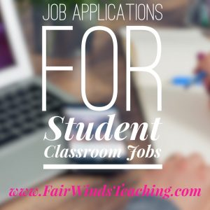 Job Applications for Student Classroom jobs