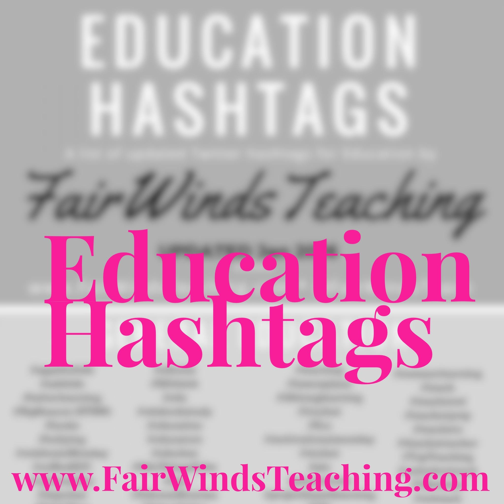 Education Hashtags – General