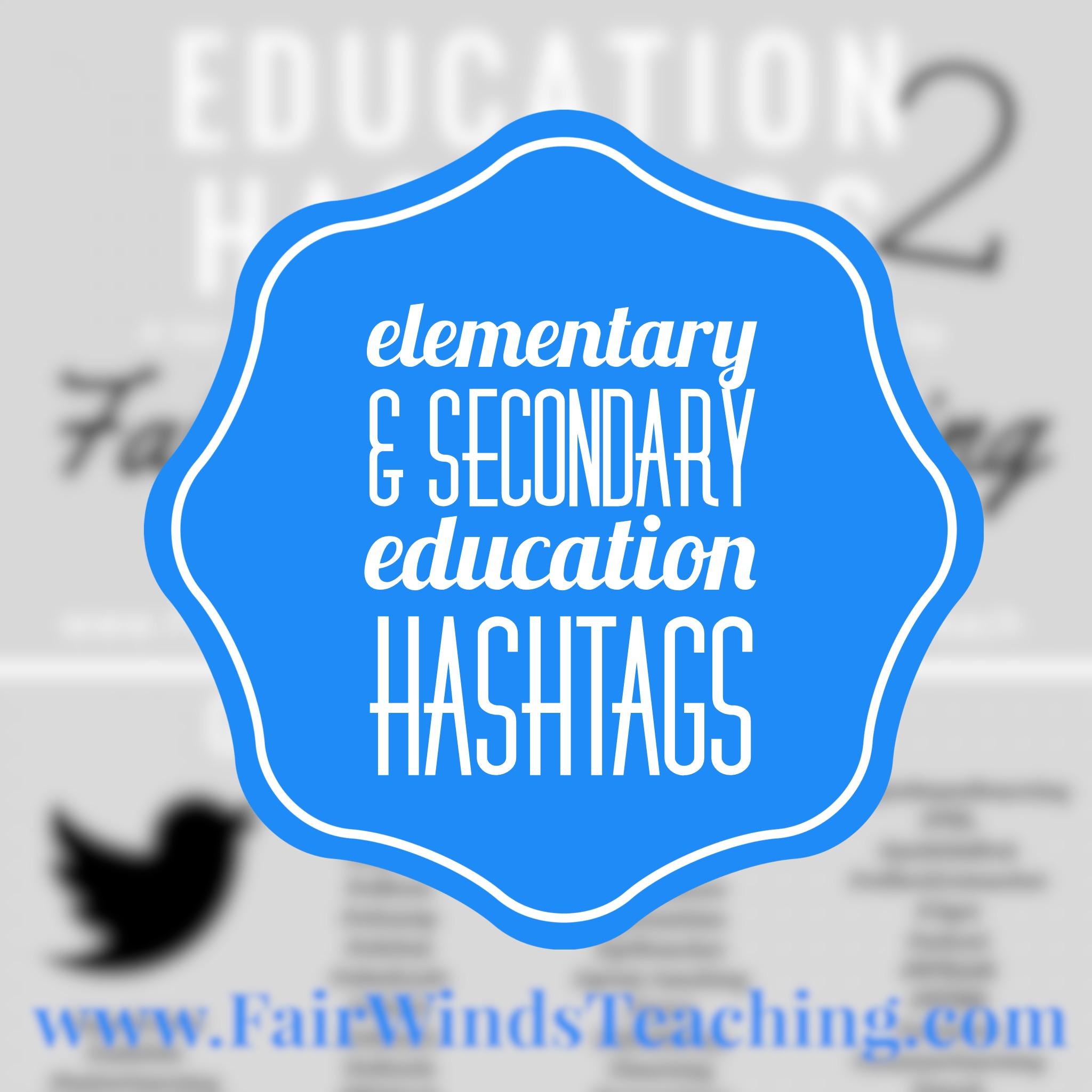 Education Hashtags – Elementary & Secondary