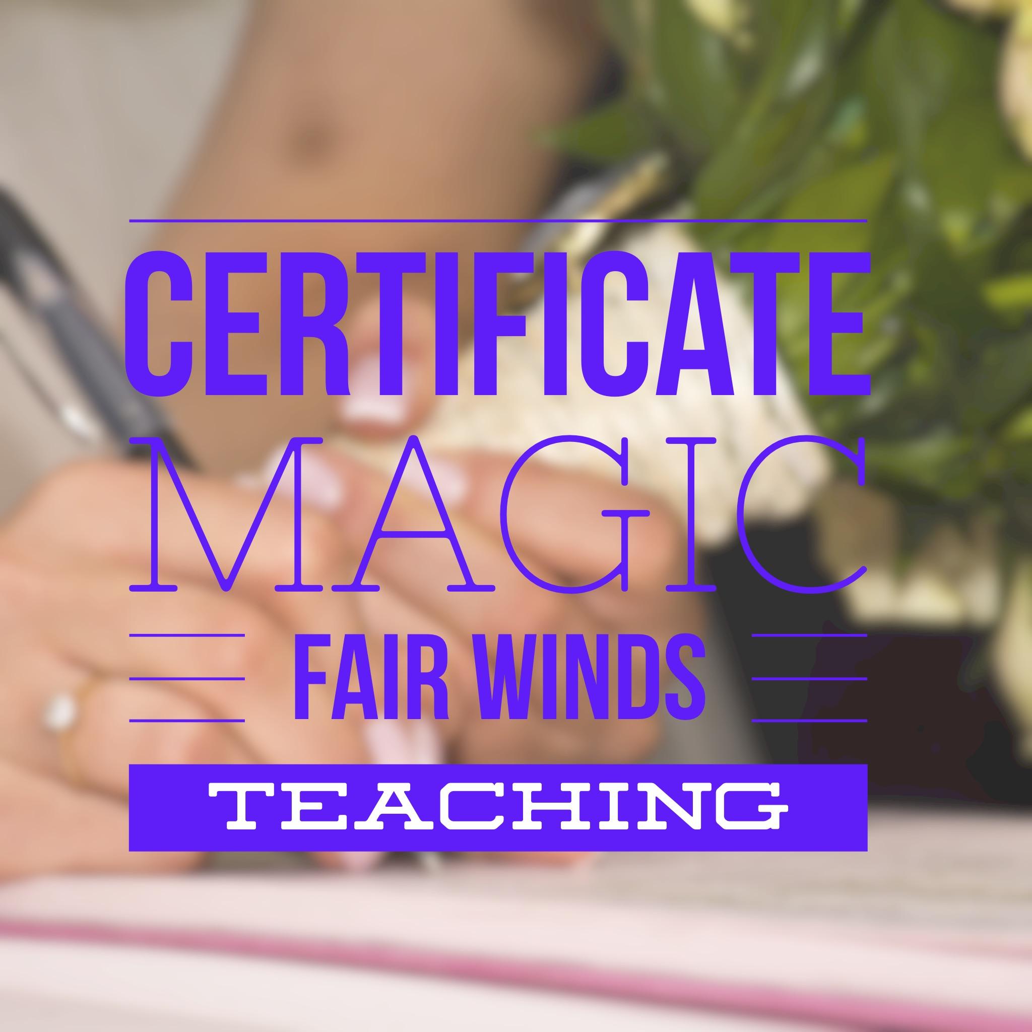 Certificate Magic!