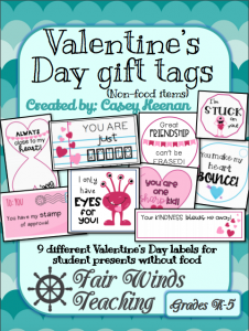 Valentine's Day non-food Gift Tags Bundle